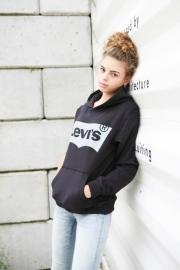 """LEVI's / Zwarte jongens-hoody met """"Levi's"""""""
