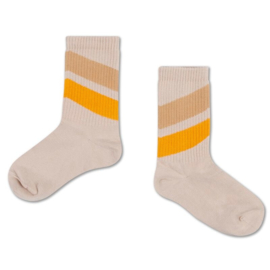 REPOSE / Socks sun gold sand diagonal
