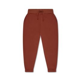 REPOSE / Sweatpants greyish grab red