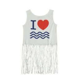 YPORQUE / Ocean fringed 't shirt