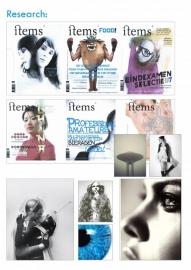 Vormgeving tijdschrift Items