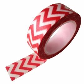 Masking tape zigzag rood