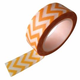 Masking tape zigzag geel