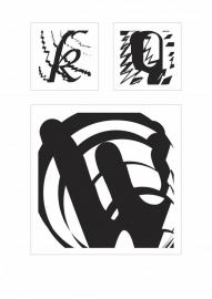 Binnen- en buitenvormen van letters