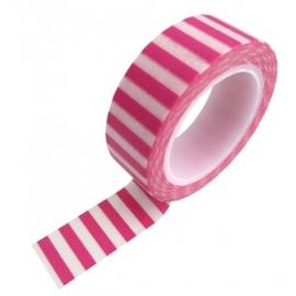 Masking tape streep roze