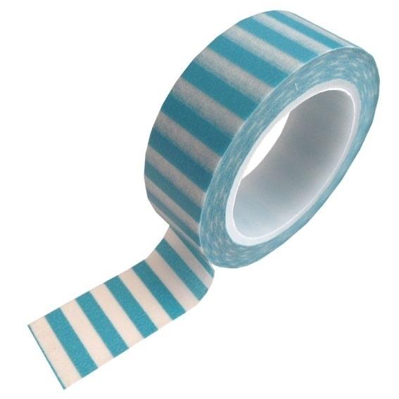 Masking tape streep blauw