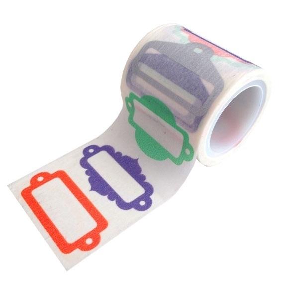 Masking tape labels