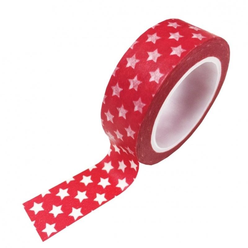 Masking tape ster rood