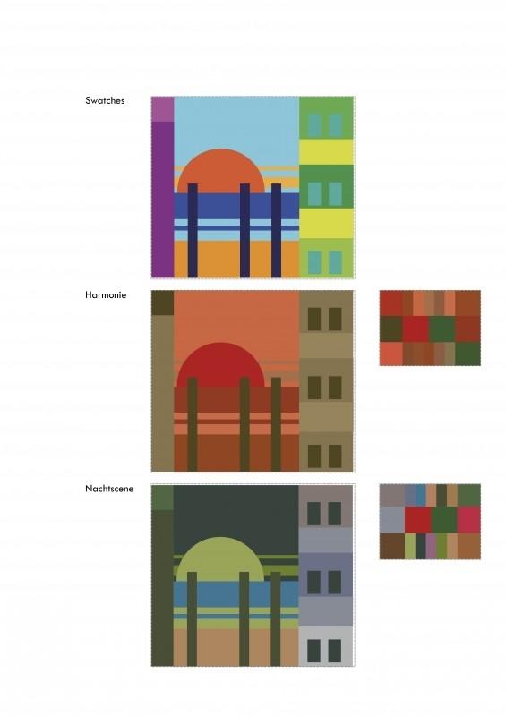 Compositie en kleurharmonie in eenvoudige vormen