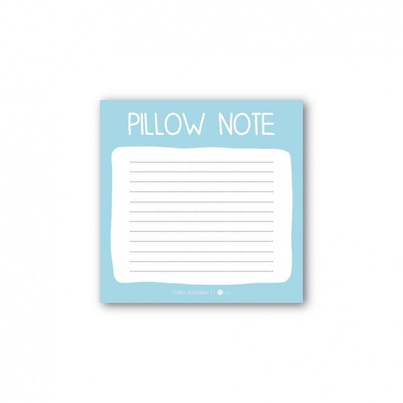 Mini note block pillow note
