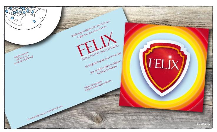 Felix geboortekaartje