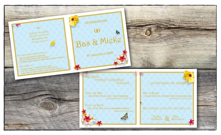 Bas & Mieke huwelijksuitnodiging
