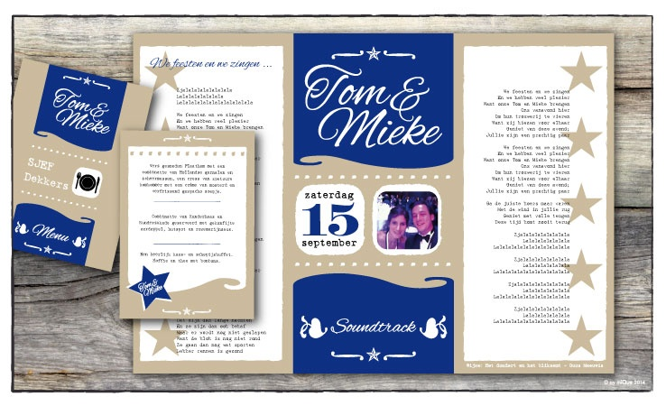 Tom & Mieke menu