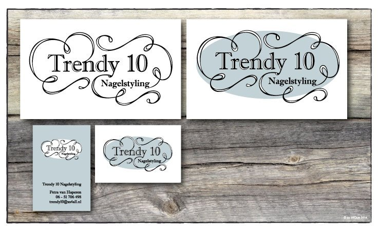 Trendy 10 visitekaartjes