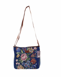 TAZ trade schoudertas crossbody Tapestry Flowers blauw
