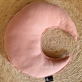 Maan kussentje oud roze  - Popjes & Zo