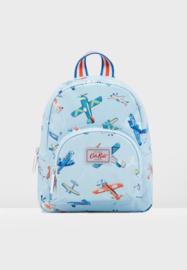 Cath Kidston mini rugzak - blauw - vliegtuigen - 22 x 20 cm