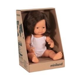 Miniland Babypop Caucasian blank - meisje (38 cm)