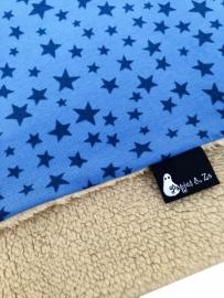 Wiegdekentje Teddy blue stars