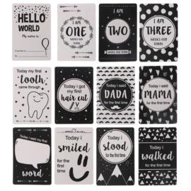 Baby Milestone cards div mijlpalen