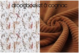 Botanical & flower prints in combi met velvet rib corduroy