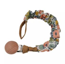 speenkoord houten clip hippie flowers