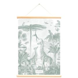 Little & Pure Productions Schoolplaat Giraf & Aapjes Pimpelmees - dubbelzijdig