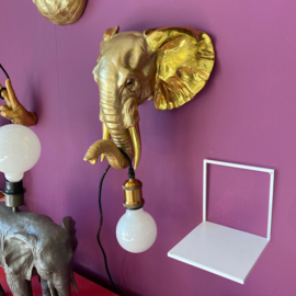 Gouden olifant wandlamp