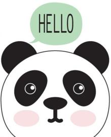 Poster panda hello 30 x 40 cm