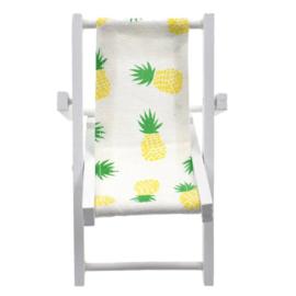 poppenhuis strandstoel hout ananas