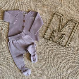Gebreid newborn setje lila maat 56/62 - Micu Micu Barcelona