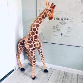 Giraf knuffel staand 100 cm hoog