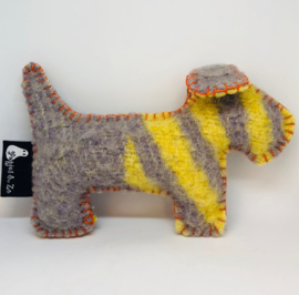 Wollen knuffel hondje Willem (klein)