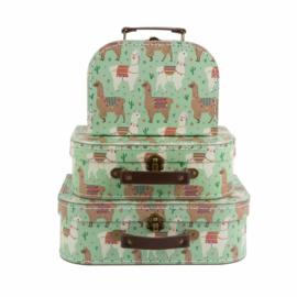 Koffertjes set van Sass & Belle set van 3 Lama