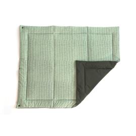 Poppiezz speelkleed 2GO botanical green in draagtas - opvouwbaar! 80 x 100 cm
