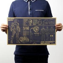 Iron man poster nieuw met vintage uitstraling 29 x 51 cm
