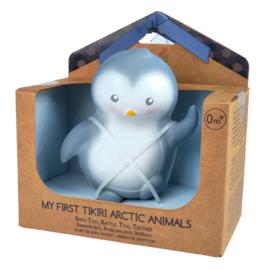 Tikiri bijt- en badspeelgoed met rammelaar pinguïn