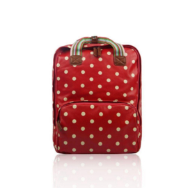 Huiskamergeluk Backpack polka dots red