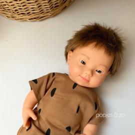 Miniland Babypop Europees - jongen met down syndroom (38 cm)