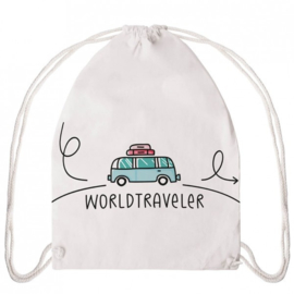 Gymtas rugzakje canvas paperproducts world traveler