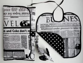 Kraampakket zwart wit (krant)