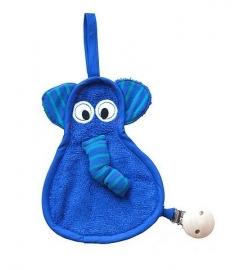 speendoekje Timboo olifant kobalt blauw