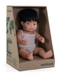 Miniland Babypop Aziatisch - jongen (38 cm)