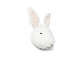 Wild & Soft  dierenkop wit konijn