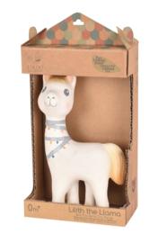 Tikiri bijt- en badspeelgoed met rammelaar lama