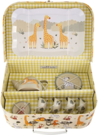 Sass & Belle picknick set safari jungle kinderserviesje