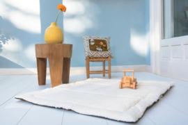 Poppiezz speelkleed 2GO teddy wool white in draagtas - opvouwbaar! 80 x 100 cm