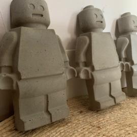 Lego poppetje XL - beton - gepersonaliseerd!