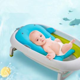 Badkussentje walvis aqua blauw newborn