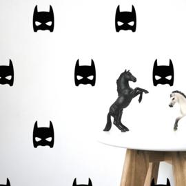Batman muurstickers 20 stuks zwart